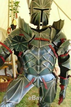 SCA Steel Medieval Half Body Fantasy Armor Suit Cuirass/Helmet/Pauldrons Knight