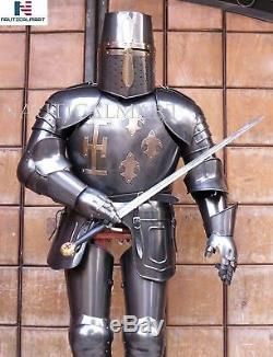 SCA Templar Wearable Medieval Knight Combat costume Armor Full Suit With Stand