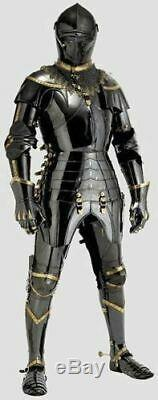 Stainless Steel Medieval Knight Suit Of Armor Combat Full Body Armour