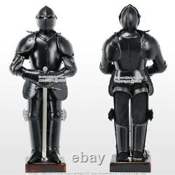 Stainless Steel Mini Duke of Burgundy Suit of Armor Medieval Knight with Sword BK
