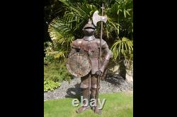 Standing Knight Suit of Armour Medieval Style Warrior Statue Large 140cm