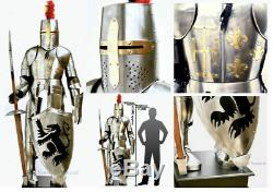Suit Of Full Body Medieval Knight Armour Stainless Steel Templar Combat Armor