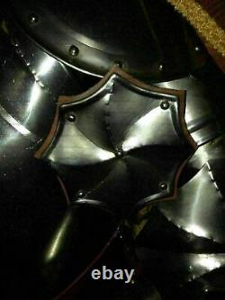 Suit of Armor Collectible Medieval Knight Helmet With Shield & Spare With Stand