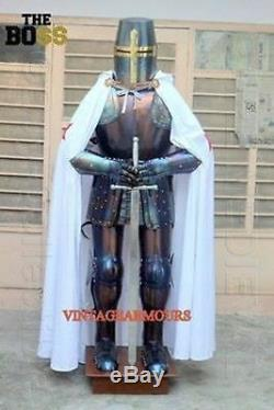 Suit of Armour Medieval Knight Gothic Combat Full Body Suit Museum Reproduction
