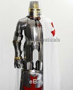 Templar Knight Suit of Armor Wearable Halloween Costume Larp/Reenactment