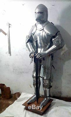 Templar Wearable Medieval Knight Combat Armor Full Suit With Stand 6 FEET DMH214