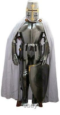 Wearable Brass Knight Armor Suite Metal Plates Medieval Armor Suit Battle Prop
