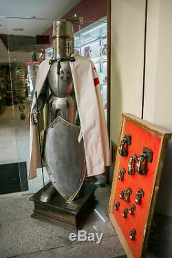 Wearable Medieval Knight Suit Of Armor Crusader Combat Full Body Armour Sword