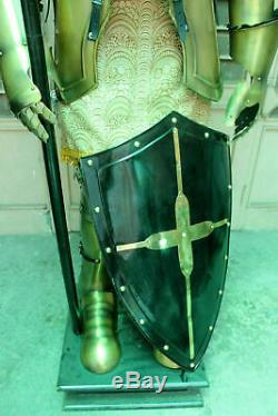 Wearable Medieval Knight Suit Of Armor Crusader Combat Full Body Armour Warrior