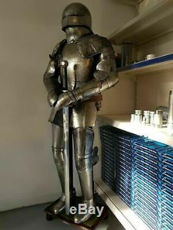 Wearable Medieval Knight Suit of Templar WithSword Combat Full Body Armour Stand