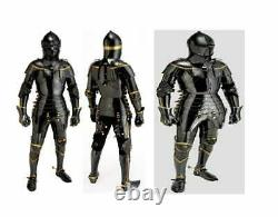 Wearable Steel Medieval Wearable Armor Knight Brass Crusador Full Suit of Armour
