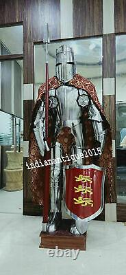 Wearable Suit of Armour Medieval Knight Shield Sword Costume Christmas Day Gift
