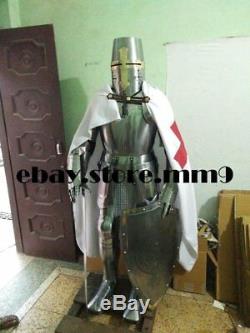 X-Mas 18 Gauge Medieval Combat Templar Knight Full Body Armour Suit Reenactm
