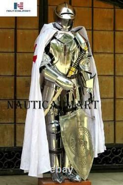 X-Mas Armour Medieval Knight Crusader Full Suit Of Armor Collectible Knight