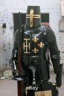X-Mas Armour Medieval Wearable Knight Crusader Full Suit Of Armor Collectible