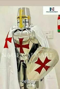 X-Mas Full Size 6 Feet Knights Templar Suit Of Armour Medieval Roman Armor S r