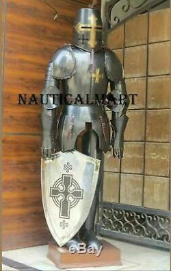 X-Mas Full Size 6 Feet Knights Templar Suit Of Armour Medieval Roman Armor Sk