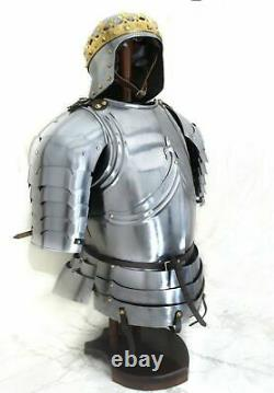 X-Mas Fully Wearable Gothic Half Suit Of Armor Knight Medieval Costume Cuirass