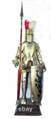 X-Mas Knight Medieval Knight Suit Of Armor Templar Combat Full Body Armour S