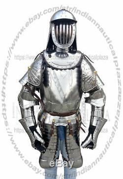X-Mas Medieval Armor Suit Polish Hussar Knight Armor Costumes Wearable Full