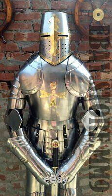 X-Mas Medieval Knight Suit Of Armor 15Th Century Combat Full Body Armour Shi