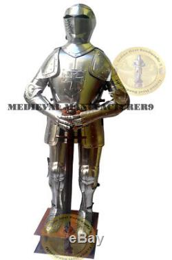 X-Mas Medieval Knight Suit Of Armor Combat Full Body Armour Suit With Stand