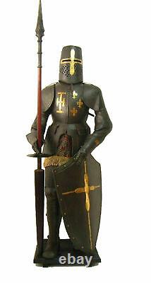 X-Mas Medieval Wearable Knight Crusader Full Suit Of Armor Collectible Costu