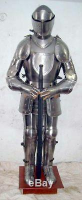 X-Mas Templar Wearable Medieval Knight Combat Armor Full Suit With Stand 6 F